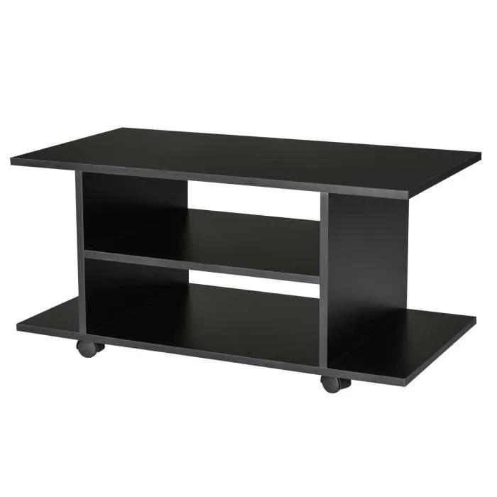 meuble tv bas table basse a roulettes en panneaux