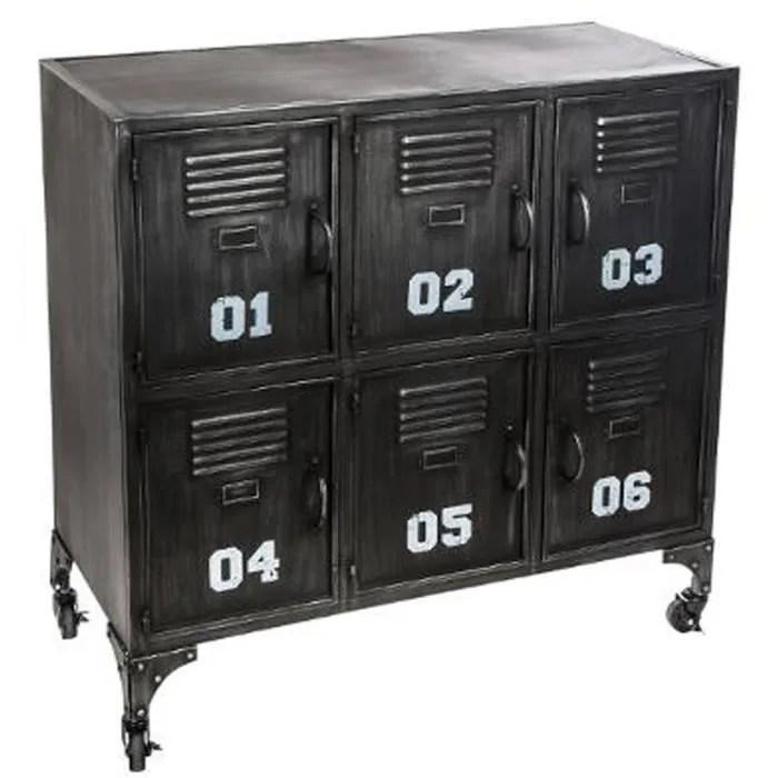 meuble d entree en fer coloris noir