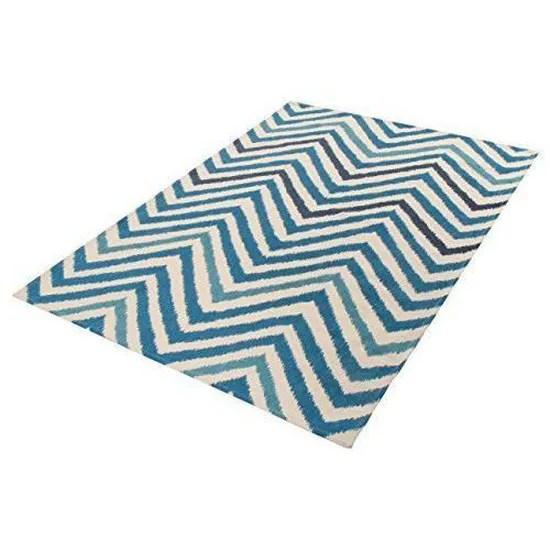 viva 19462 tapis ikat rouge tapis coton bleu bleu 170 x 48 x 240 cm