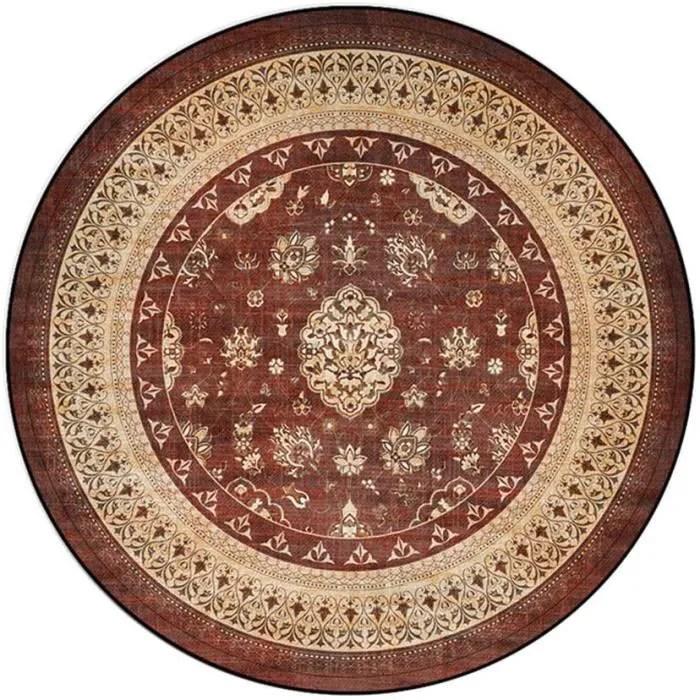 tapis tapis rond doux mandala fleurs reacutetro sa
