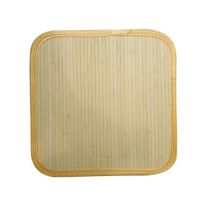 tapis bambou blanc