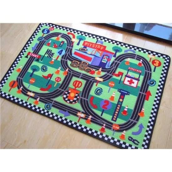 shan tapis de sol jeu circuit enfant voiture geant mini speedway 1m20 sur 0 8m lavable