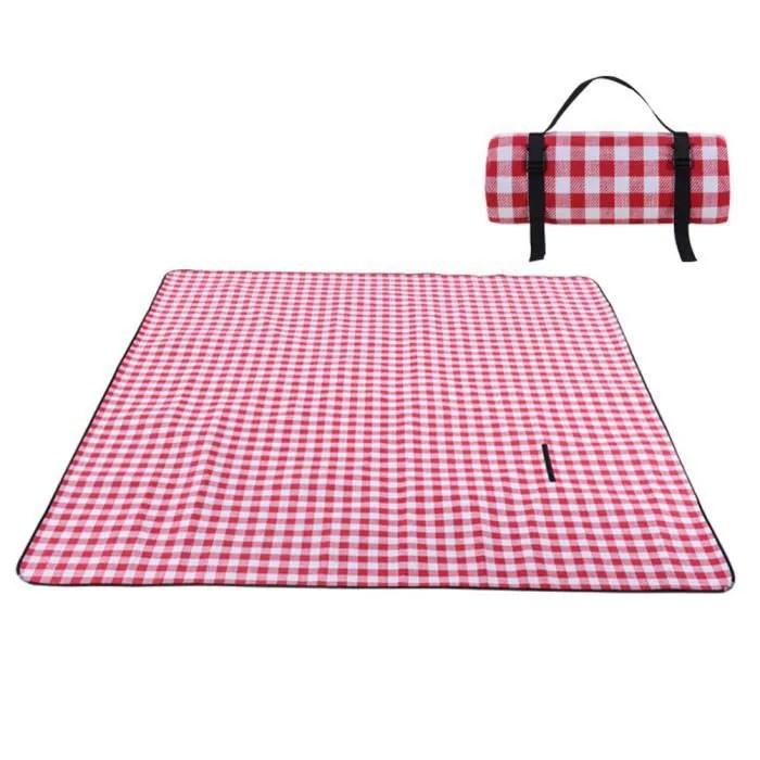 tapis pique nique en acrylique plaid 200 150cm