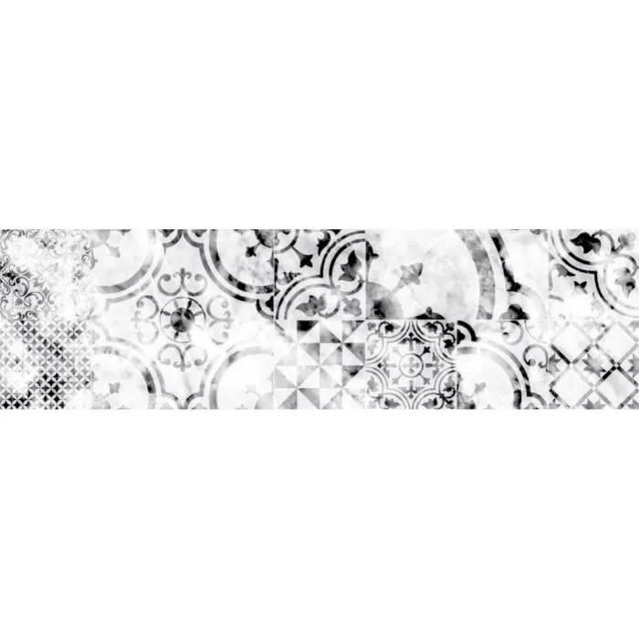 credence adhesive en alu imitation marbre l 20 x l 90 cm blanc