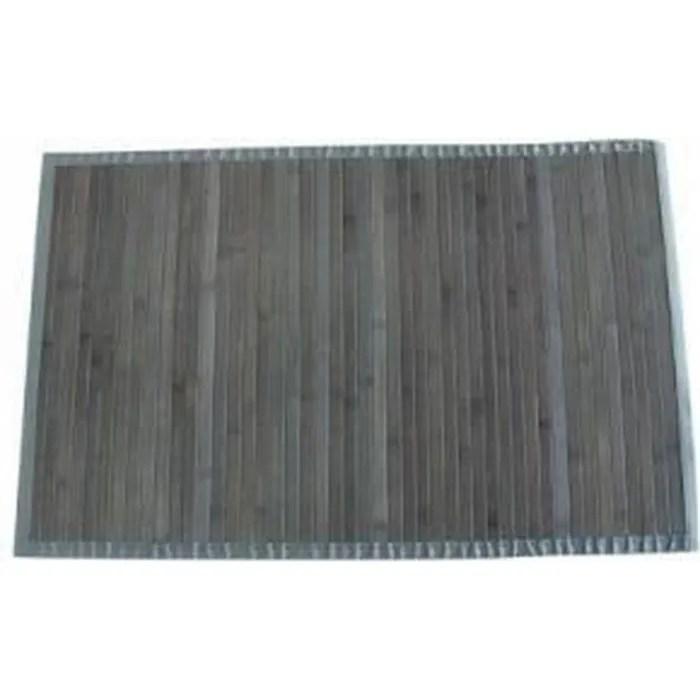 tapis bambou latte 120x170 gris clair