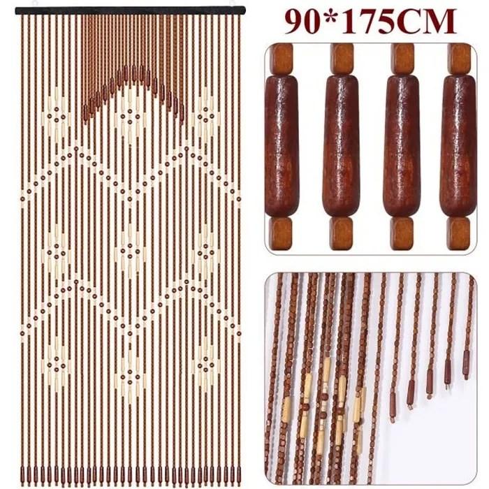 rideau de porte bois