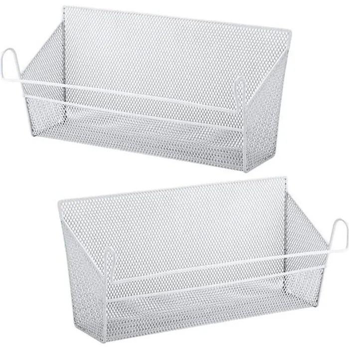 panier de rangement pour lit superpose paniers de rangement pour table de chevet en suspendu avec crochet pour livres telephones