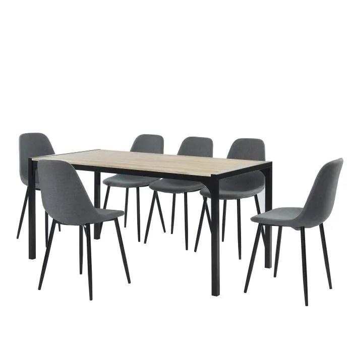 ensemble table a manger 6 chaises tissu anthrach