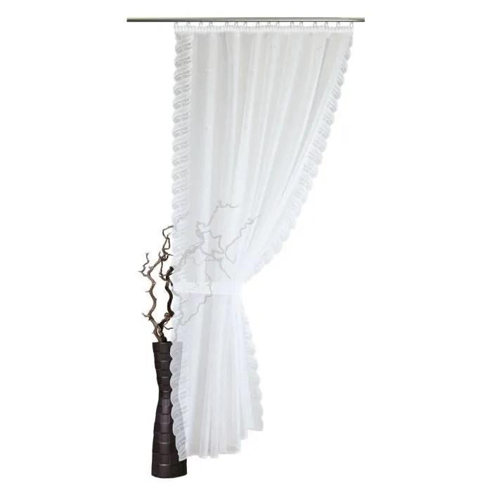 rideau voilage hauteur au choix largeur 155 cm