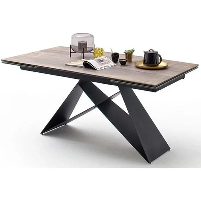table a manger bois et metal extensible