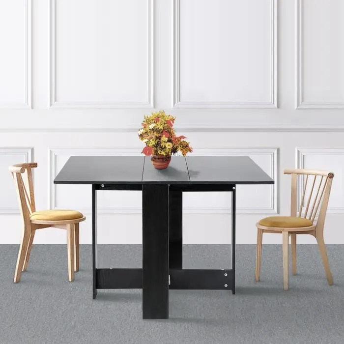 table pliante noir style contemporain 4