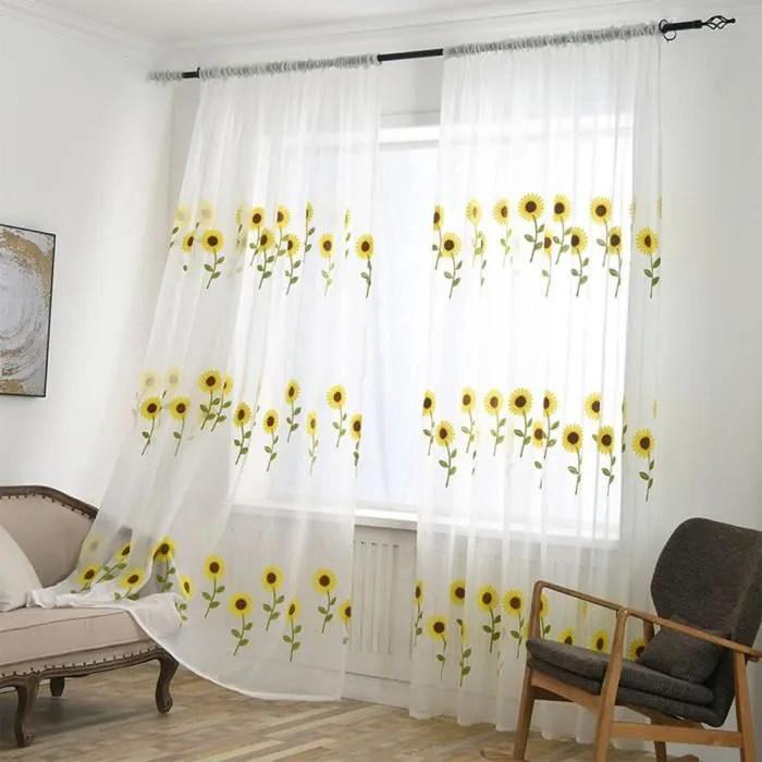 marguerite rideaux voilage 100x250 a oeillet ride