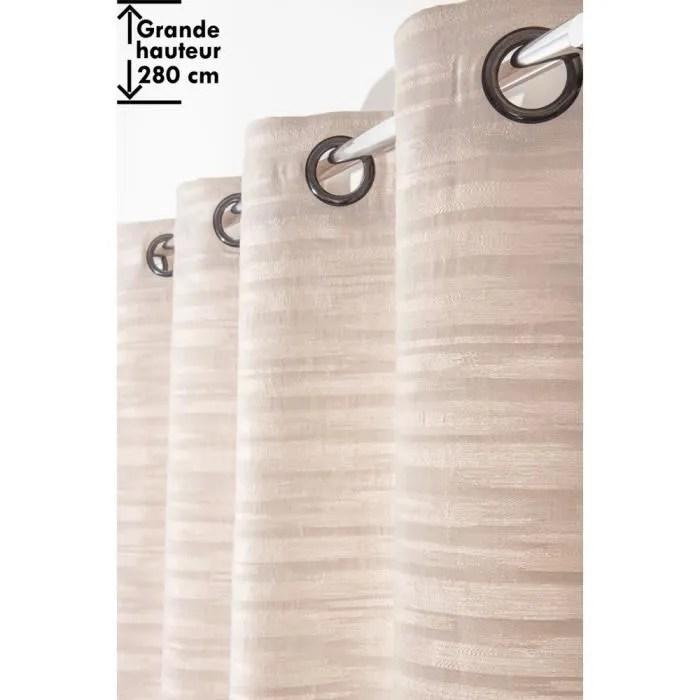 paire de rideaux jacquard a rayures horizontales hauteur 230 cm