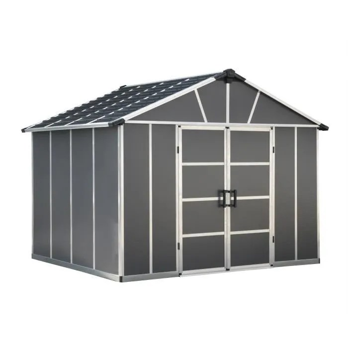 palram abri de jardin yukon 7 9 m aluminium et