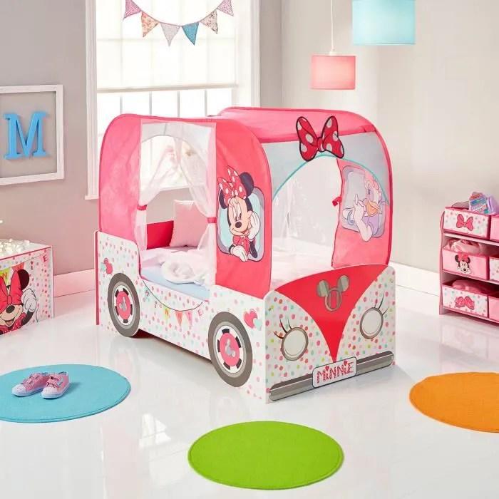 lit camping car minnie mouse pour petite fille