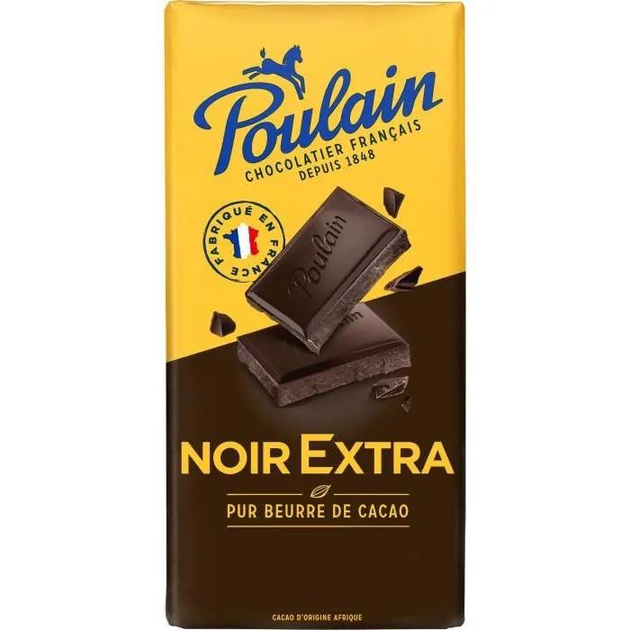 poulain chocolat noir extra 200 g