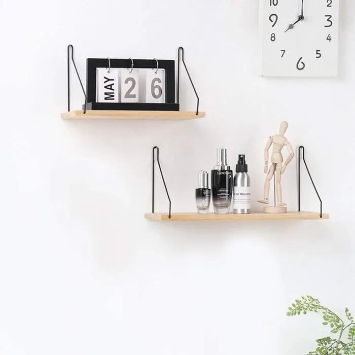 etageres murale bois etagere de rangement decorative pour cuisine 40 x 15 8 x 16 5 cm
