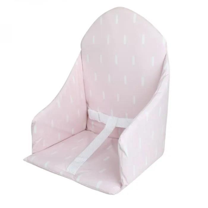 coussin d assise universel miam avec harnais pour chaise haute bebe rose trait