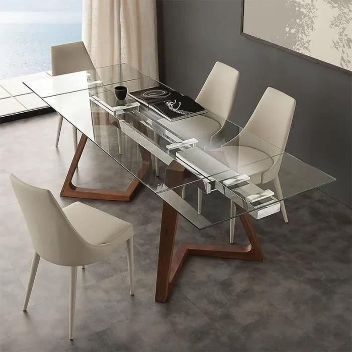 verre et bois design tosca 160 cm