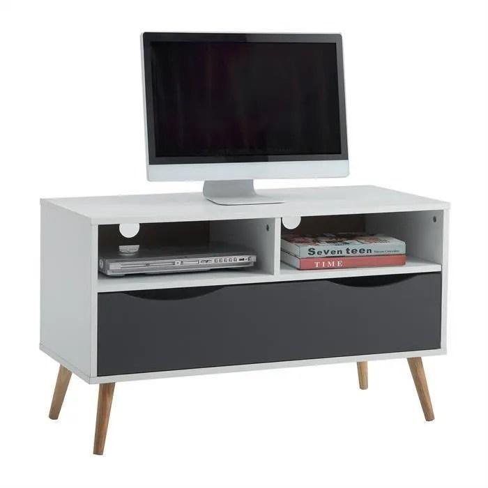 meuble tv genova banc tele 90 cm style