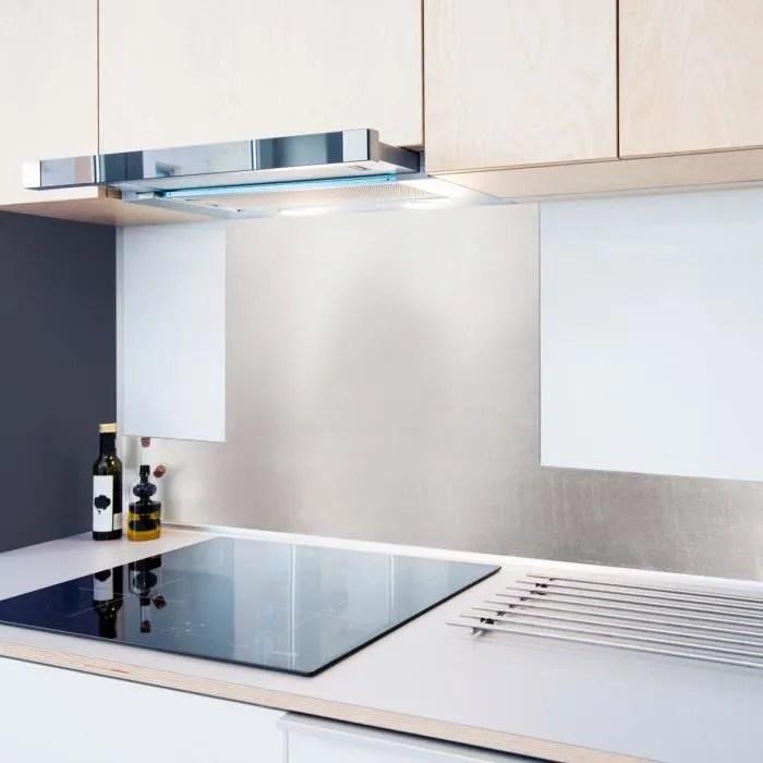99 deco credence cuisine adhesive alu brosse lot de 2 l100xh20cm gris mixte adultes l 100 h 20 cm