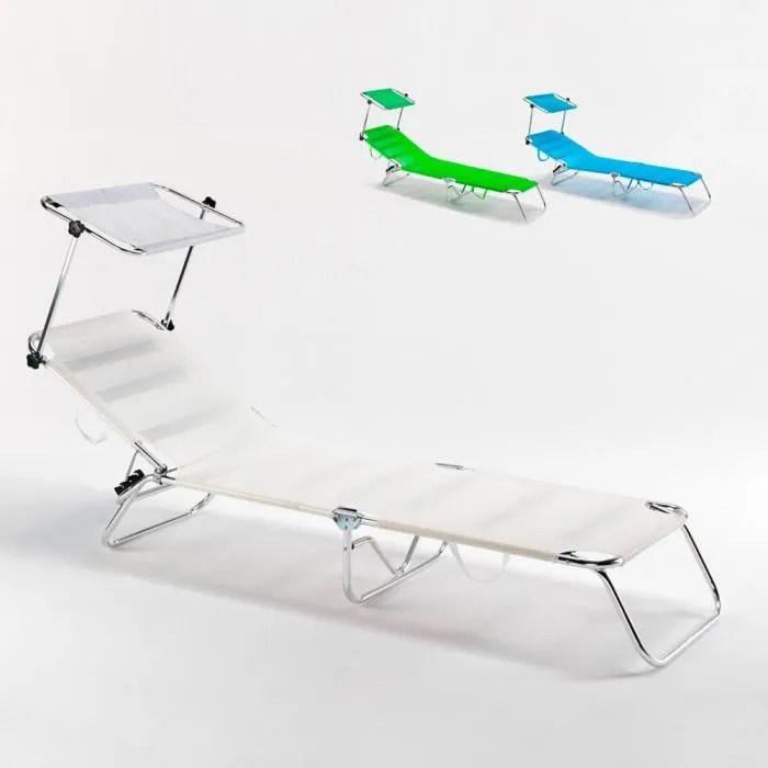 piscine de plage lit de plage pliable aluminium ca