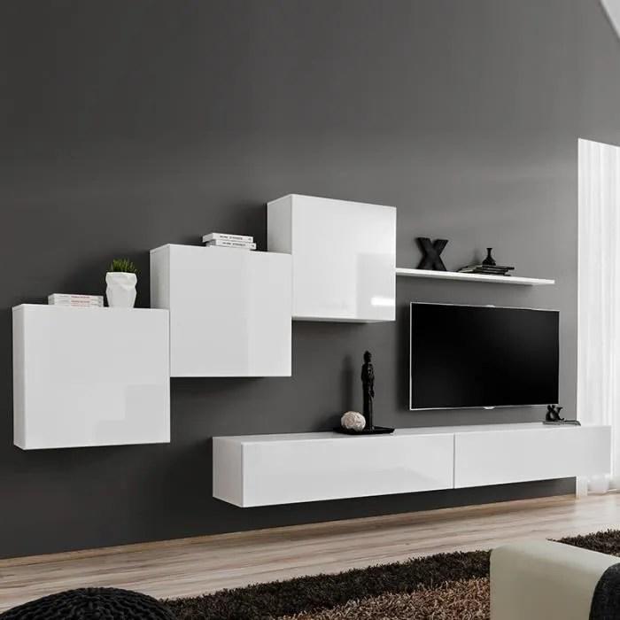 composition murale blanche design vivara 3 blanc l
