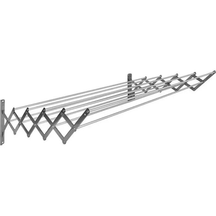 Sauvic Sechoir A Linge Extensible Inoxydable Avec 10 Barres De 120 Cm Achat Vente Fil A Linge Etendoir Cdiscount