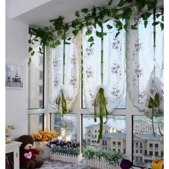 fuchsia fleur rideau romain chambre baie vitree balcon gaze rideau rideau brode de levage fenetre de depistage 0 8 1 m