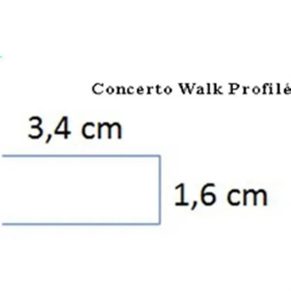alterna paroi droite concerto 100 cm hauteur 2m
