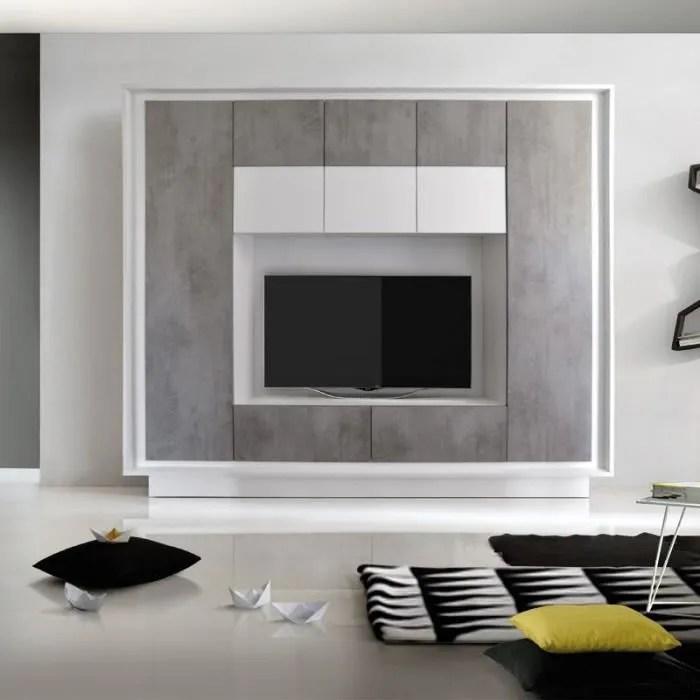composition tv beton cire rimini l 240 x l 40