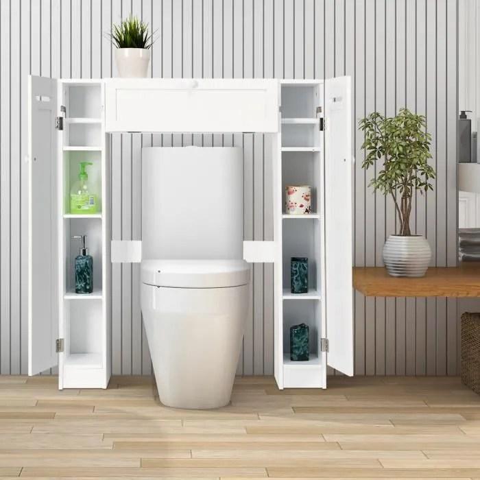costway meuble wc meuble de rangement