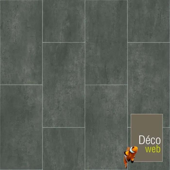 2 x 4m sol pvc best motif carrelage gris fonce