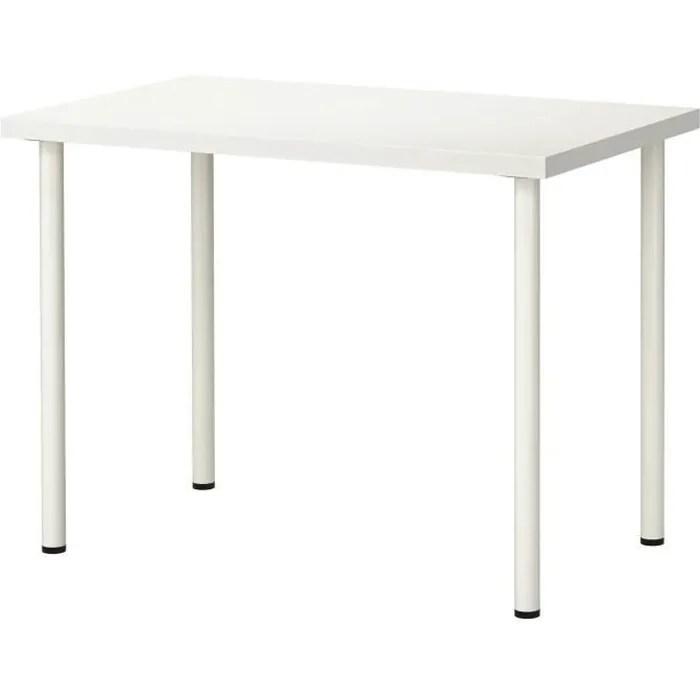 Ikea Linnmon Adils Table Bureau Blanc 100 X 60 Cm Achat Vente Bureau Ikea Linnmon Adils Table Bure Cdiscount