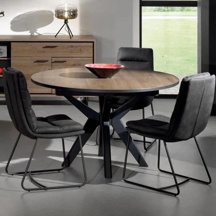 table ronde extensible 130 cm couleur