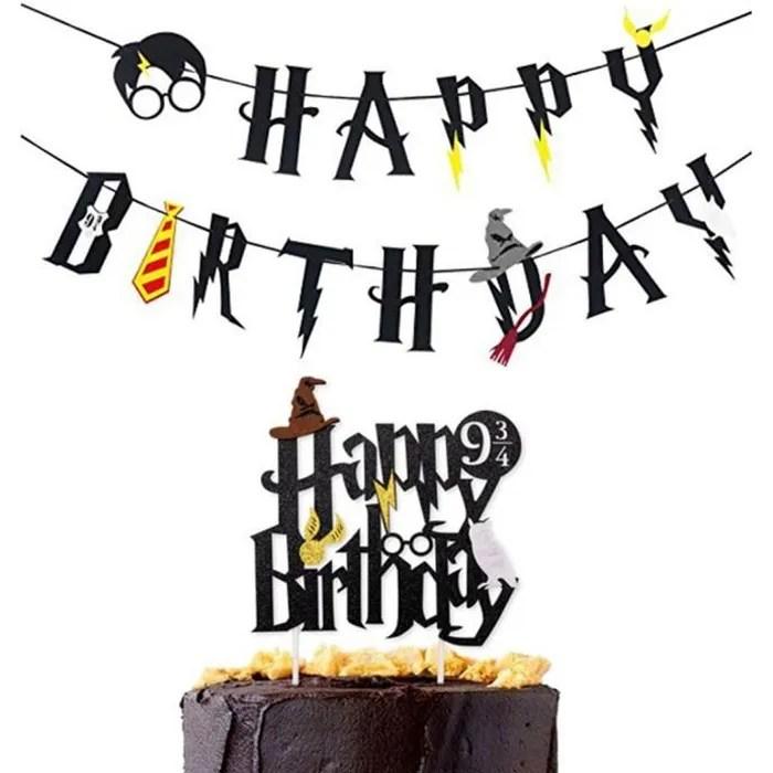 disque gateau anniversaire harry potter