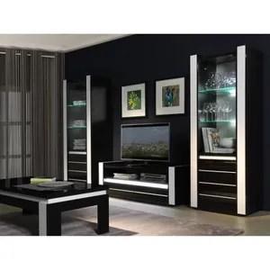 meuble salon noir laque