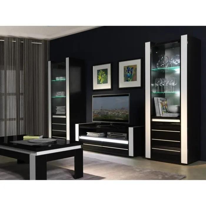 ensemble meuble salon blanc laque