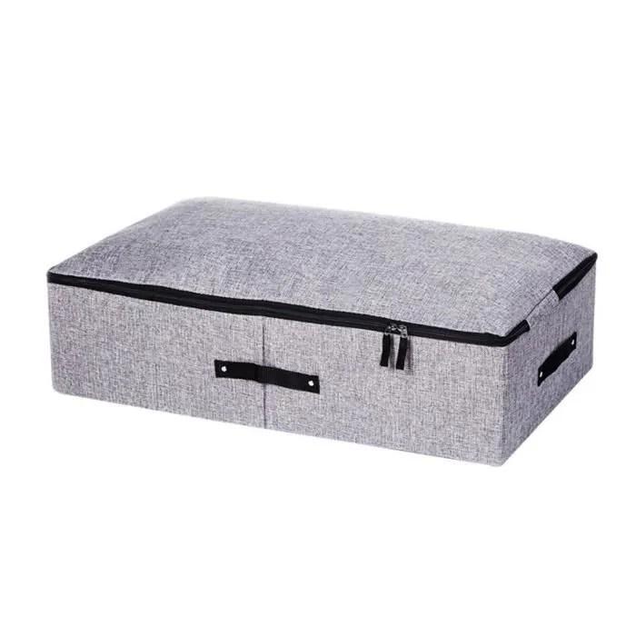 1 pc boite de rangement sous lit coton et lin vetements pliable organisateur cas conteneur boite de rangement bac de rangement