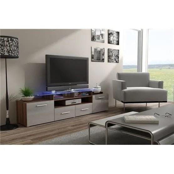meuble tv design evori bois et gris