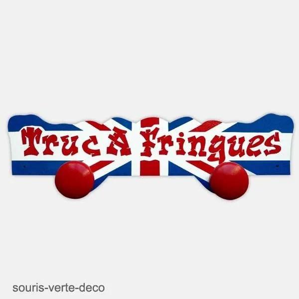 porte manteaux mural drapeau anglais 2