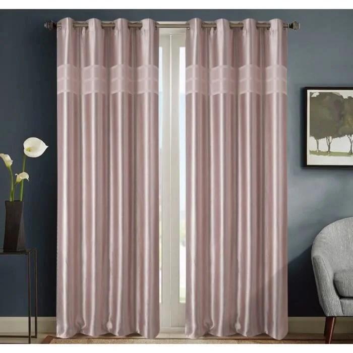 rideaux occultant couleur rose pale