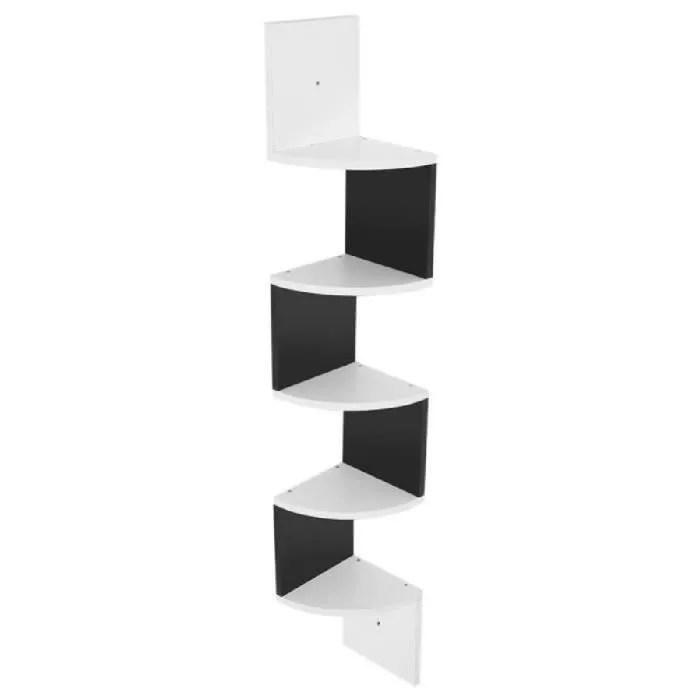 5 niveaux etageres de coin de bati