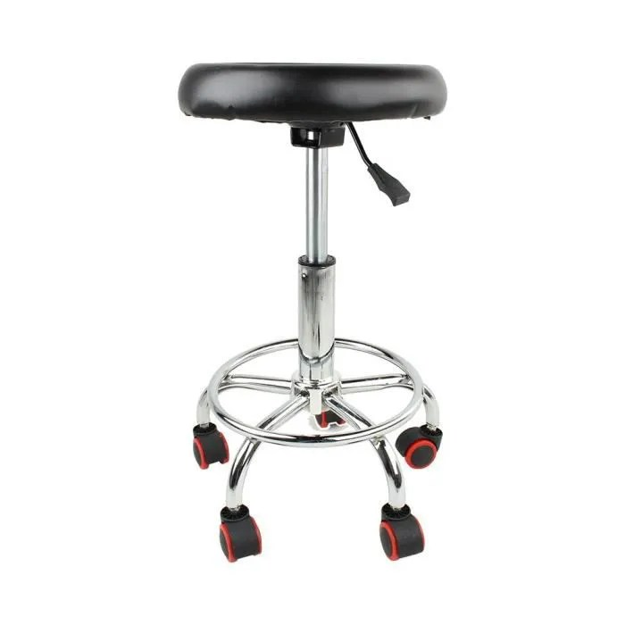 soulong tabouret de bureau a roulettes pivotantes a 360o tabouret de travail avec siege rembourre hauteur reglable 45 55 cm p