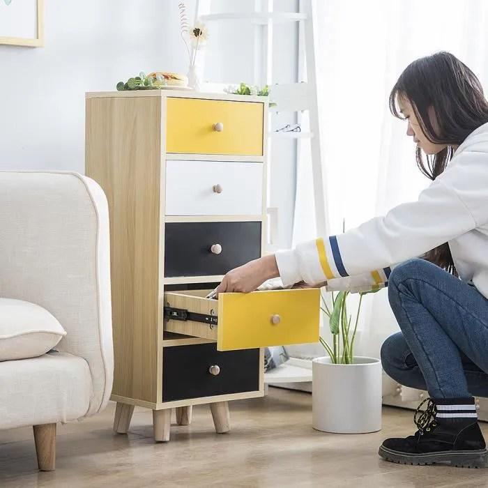 meuble de rangement avec tiroirs armoire base hauteur 85cm buffet pour cuisine chambre yageway