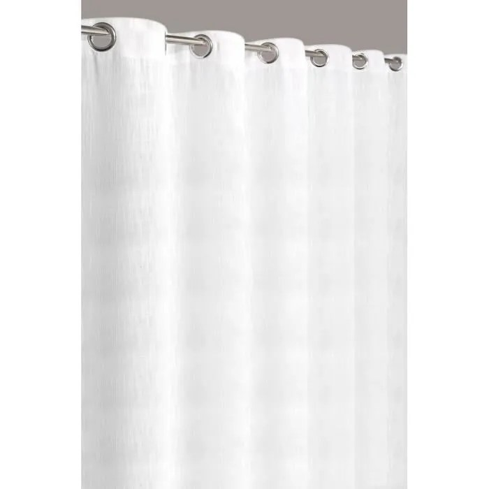 rideau uni effet lin grande largeur 280x240 cm