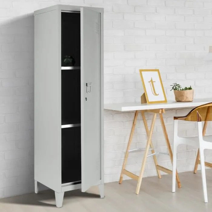 armoire rangement metal