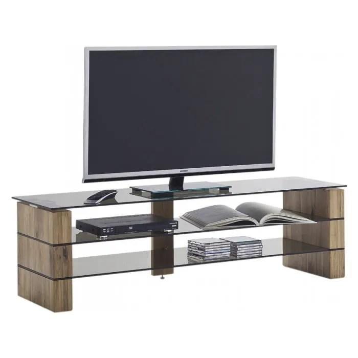 meuble tv design en bois chene massif