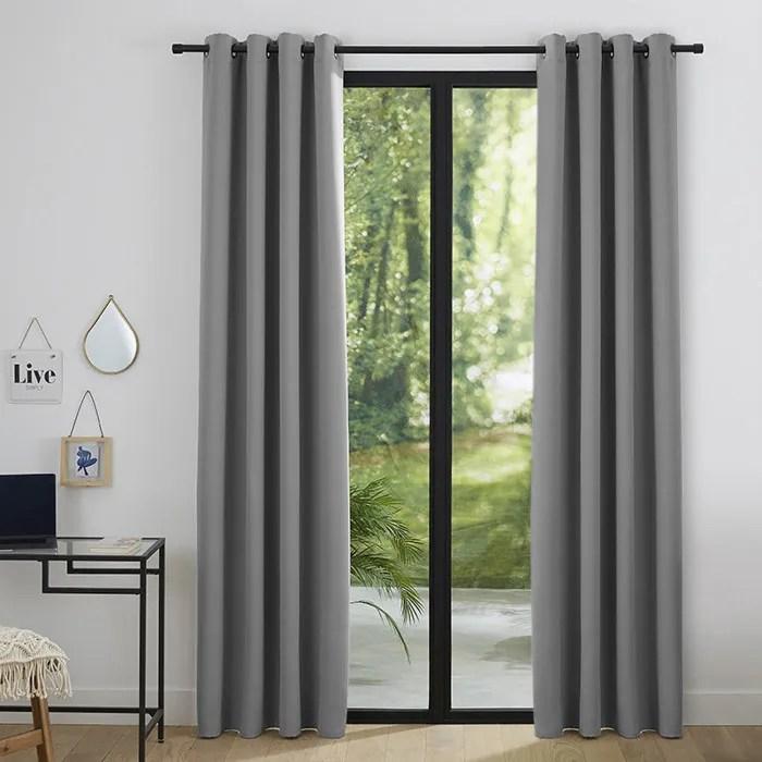 double rideau gris
