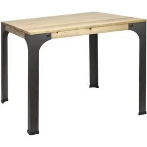 table bar bois metal industrielle
